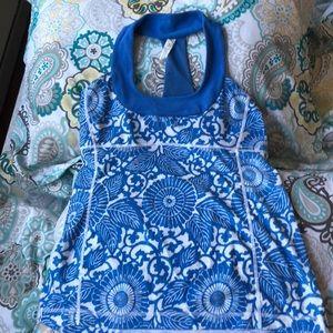 Beautiful blue and white lulu tank top